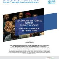 Apéro-découverte : le Génocide des Tutsi au Rwanda, si loin ? si proche !